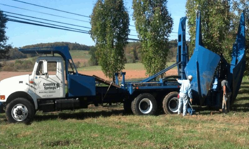 Big Tree Spade Truck - Country Springs Wholesale Nursery
